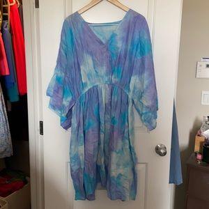 Tie dye swim cover up (24w)